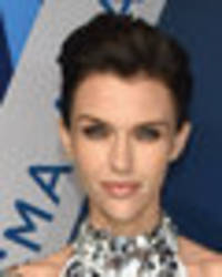 ruby rose ditches her bra in skintight sparkling dress