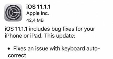 Apple Releases iOS 11.1.1 Update to Fix Keyboard Autocorrect Bug, Siri Issue