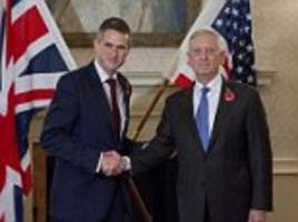 Gavin Williamson holds talks with General Mattis