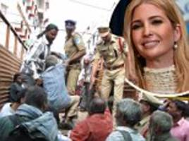 indian police crackdown on homeless ahead of ivanka visit