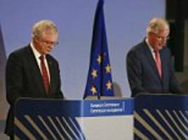 david davis faces off with eu negotiator michel barnier