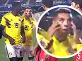 Colombia's Edwin Cardona in racist gesture at South Korea