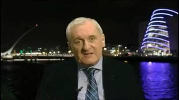 ahern: hard irish border would be a 'huge setback'