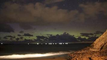 northern lights seen over isle of man