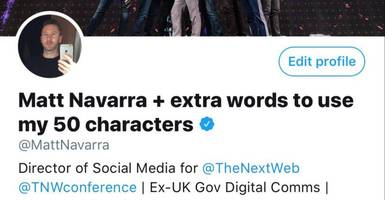 Twitter now lets your display name be longer too – up to 50 characters