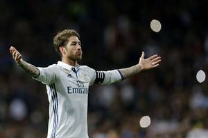 Real Madrid captain Sergio Ramos disagrees with 'opportunist' Cristiano Ronaldo over claims European champs are ...