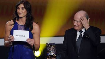 Sepp Blatter: Hope Solo accuses ex-Fifa president of sexual harassment