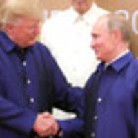 Donald Trump shakes hands with Vladimir Putin at summit, after confusion about meeting
