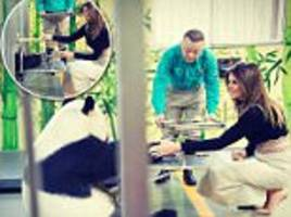 melania meets panda that has already mauled three people