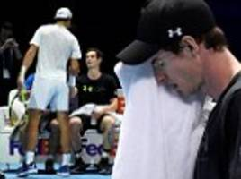 andy murray steps up recovery as he practices at o2 arena