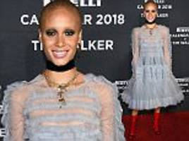 adwoa aboah bares her pierced assets in daring tulle gown
