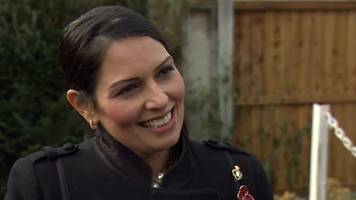 priti patel 'overwhelmed' by support after quitting cabinet