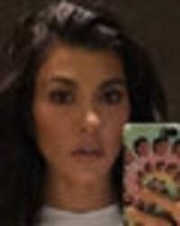 braless kourtney kardashian upstaged by nipples while showing off new hair cut
