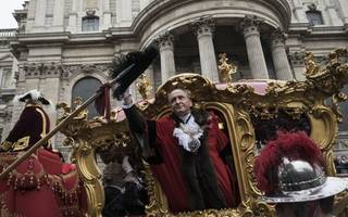 lord mayor's show: 690th lord mayor charles bowman is sworn in with a bang