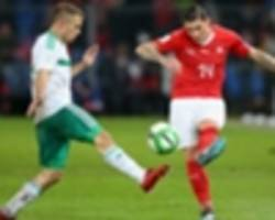 switzerland 0 northern ireland 0 (1-0 agg): controversial first-leg penalty sends swiss to world cup