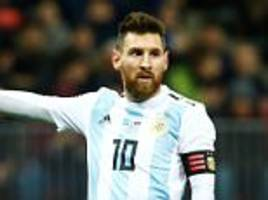 lionel messi says he will be used sparingly by argentina