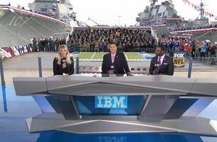 the fox nfl kickoff crew offers a salute to service live from the norfolk naval station