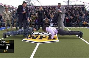 navy sonar technician challenges michael vick to pushup contest