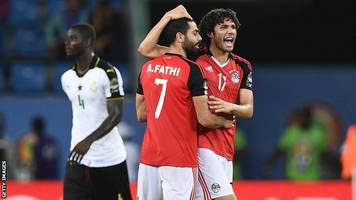 egypt end successful qualifying campaign with ghana draw