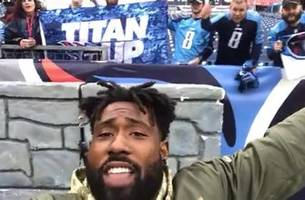 Delanie Walker and Titans fans say, THANK YOU! to veterans and members of the military