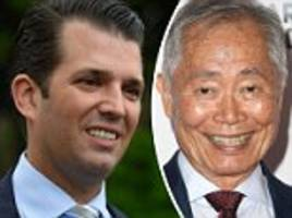 donald jr attacks george takei after sexual assault claims