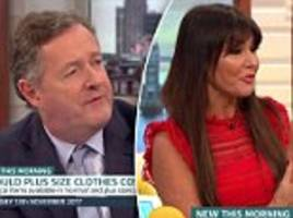 ITV Good Morning Britain plus size clothing Piers Morgan