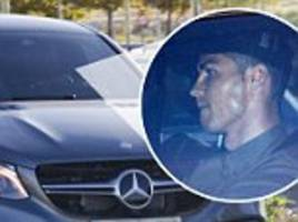 Cristiano Ronaldo pictured after baby daughter's birth