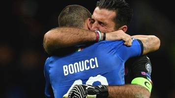 Gianluigi Buffon retires as Italy lose to Sweden in World Cup play-off