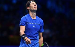 wounded rafael nadal beaten by goffin in atp finals opener