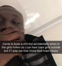 stormzy got stuck in the toilet at mtv emas