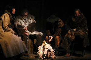 stage: jethro compton's white fang uk premieres at the connaught theatre worthing