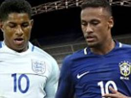 england vs brazil live: three lions defence will be tested