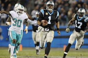 Dolphins can't contain Cam Newton, drop 3rd straight with loss to Panthers