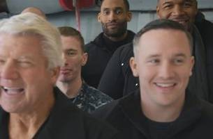 get a behind-the-scenes look at the nfl on fox crew's visit to naval station norfolk