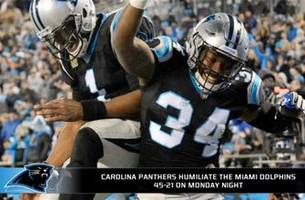 panthers humiliate dolphins monday night, are they legit contenders?