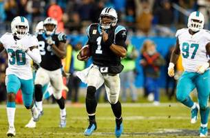 panthers humiliate dolphins monday night in 45-21 rout