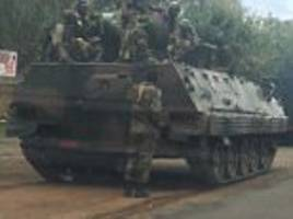 Tanks and armed soldiers seen heading towards Zimbabwe