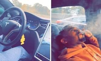 Man Smoking Weed in a Tesla Model S on Autopilot Is Not What You Want to See