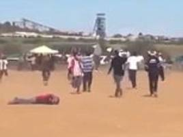 Football fan executed on the pitch after a game