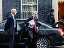 Hammond's Budget will be a car crash fears the Cabinet