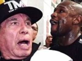 floyd mayweather pays tribute to cut man rafael garcia