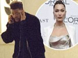 the weeknd sprints out of his ex bella hadid's apartment