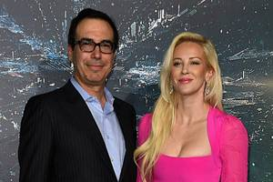steve mnuchin's money shot with wife makes twitter drip with sarcasm