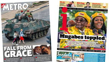 newspaper headlines: mugabe's 'fall from grace' in zimbabwe