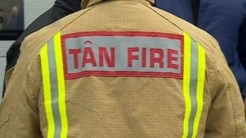 man and girl rescued from roof in penarth house fire