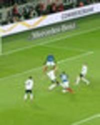 Anthony Martial tees up Alexandre Lacazette with jaw-dropping ball control against Germany