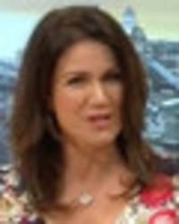susanna reid's cleavage takes centre in plunging gmb dress