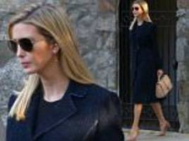 ivanka trump steps out in coat and funky earrings in dc