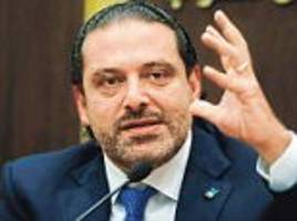 lebanon's 'resigned' pm accepts invitation to paris