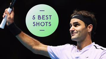 five best shots as federer beats cilic in three sets